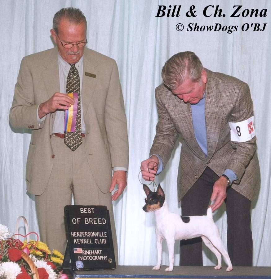 HUGELY'S MOTHER AKC CH. ZONA, BILL ANDREWS HANDLING